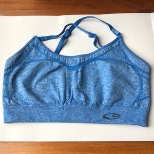 NEVER WORN CAMPION blue sports bra